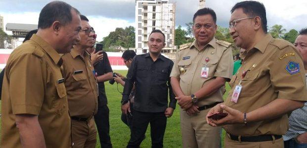 Jelang Laga Sulut United, Gubernur Pantau Penyelesaian Stadion Klabat