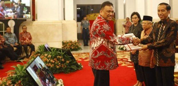 Olly Terima DIPA dan Alokasi Transfer Daerah dari Presiden Jokowi
