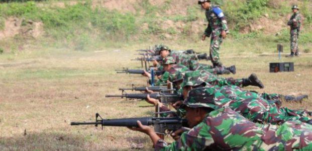 Kodim 0718/Pati Tingkatkan Kemahiran Latihan Menembak