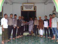 Tim Polres Talaud Salurkan Infaq di Masjid Nurul Jihad Bawunian