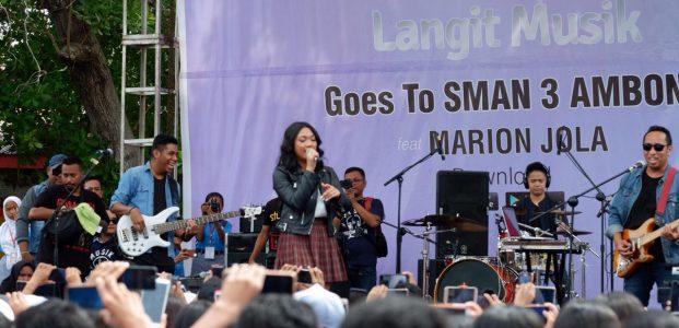 LangitMusik Datangkan Marion Jola ke SMAN 3 Ambon