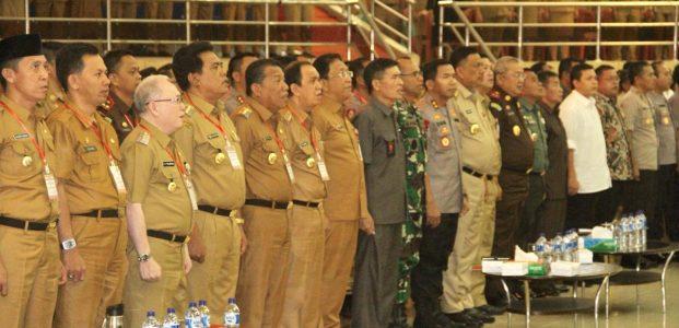 Bupati Roring Hadiri Rakorda Pemilu Serentak di Provinsi Sulut