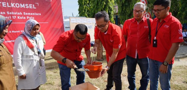 Telkomsel Peduli, Bangun Sekolah dan Sumber Air Bersih di Palu