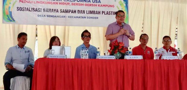 Peduli Kebersihan Minahasa, Sumonder California USA Donasi Tempat Sampah