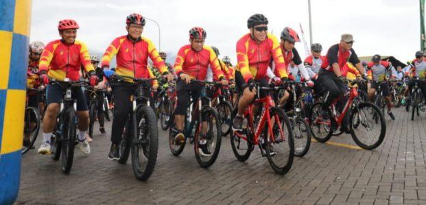 Wagub Meriahkan Jaya Sakti Fun Bike Kodam XIII Merdeka