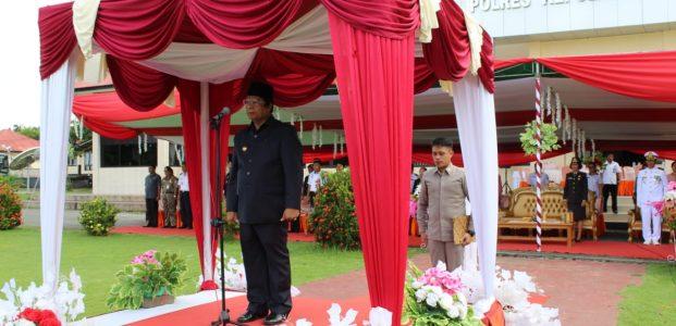 Plt Bupati Talaud Pimpin Upacara Peringatan HUT Bhayangkara ke-73