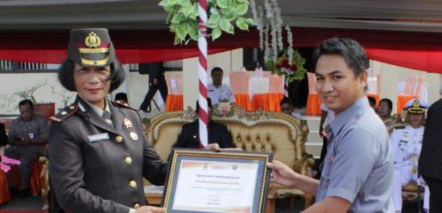 Polres Kepulauan Talaud Terima Penghargaan TV Swasta
