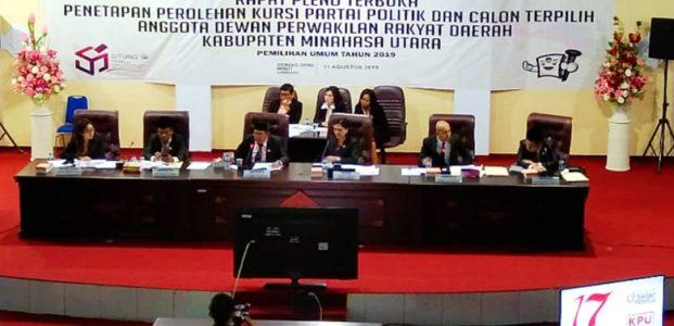 Ini 30 Nama Calon Terpilih Anggota DPRD yang Ditetapkan KPU Minut