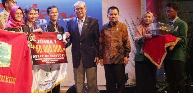 Universitas Sumatera Utara Juara Debat Konstitusi MPR