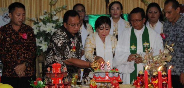 Wabup Dondokambey Ibadah Bersama GMIM Sion Rote Sawangan