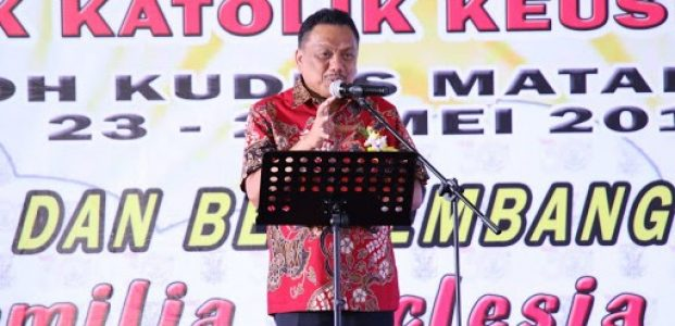 HUT ke-30 KBK Keuskupan Manado, Olly Tebarkan Spirit Kerukunan