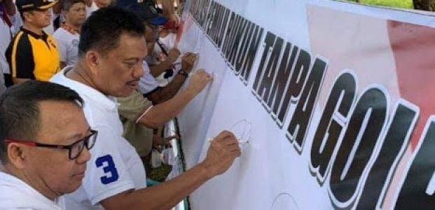 Olly Gelorakan Semangat Pemilu Rukun Tanpa Golput
