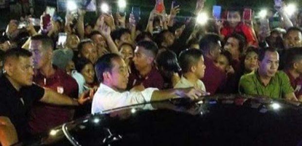 Jokowi Sebut Antusiame Warga Kota Manado Luar Biasa